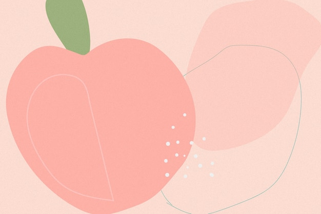 Handgezeichneter pfirsich-memphis-hintergrund