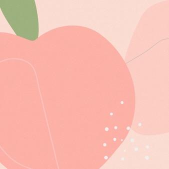 Handgezeichneter pfirsich memphis hintergrundvektor
