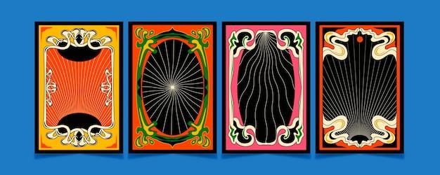 Handgezeichneter psychedelischer rahmen