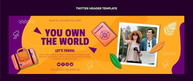 Handgezeichneter reise-twitter-header