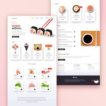 Handgezeichneter restaurant-flyer mit foto
