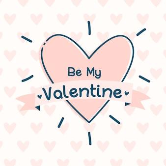 Handgezeichneter valentinsgrußhintergrund