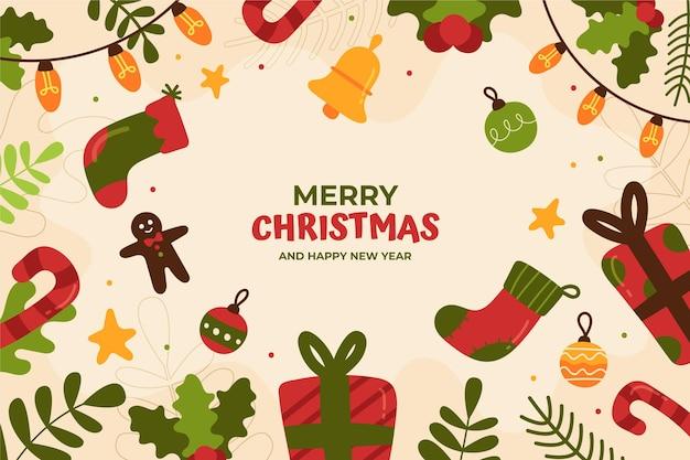 Handgezeichneter weihnachtshintergrund