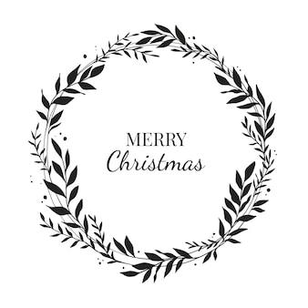 Handgezeichneter weihnachtskranz