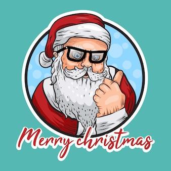 Handgezeichneter weihnachtsmann-charakter