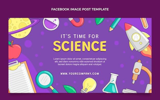 Handgezeichneter wissenschafts-facebook-post