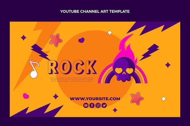 Handgezeichneter youtube-kanal des musikfestivals