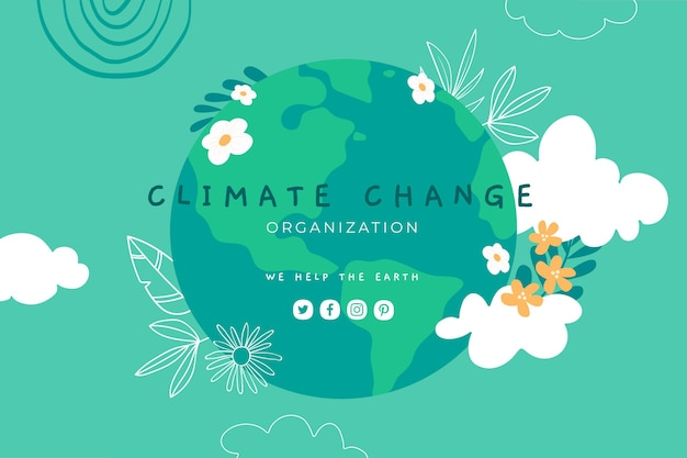 Handgezeichneter youtube-kanal zum klimawandel