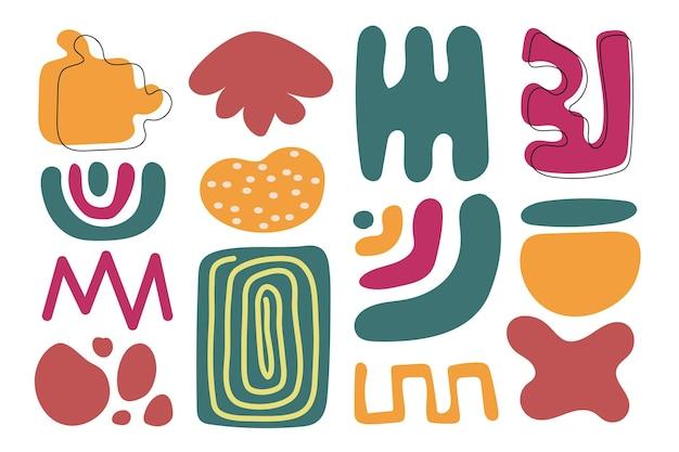 Handgezeichnetes abstraktes formpaket