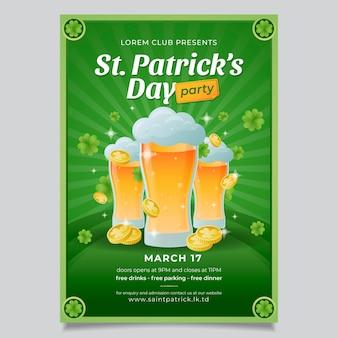 Handgezeichnetes bier st. patrick's day poster vorlage