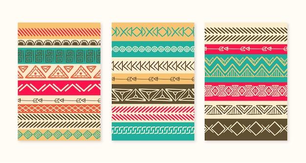 Handgezeichnetes boho-cover-set