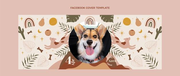 Handgezeichnetes boho-geburtstags-facebook-cover