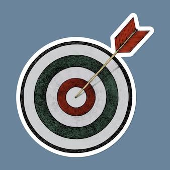 Handgezeichnetes bullseye
