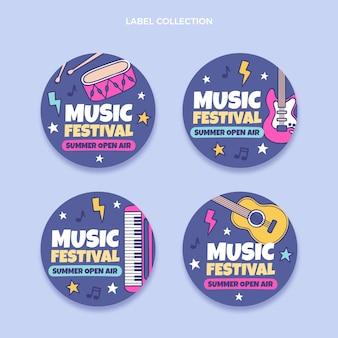 Handgezeichnetes buntes musikfestival