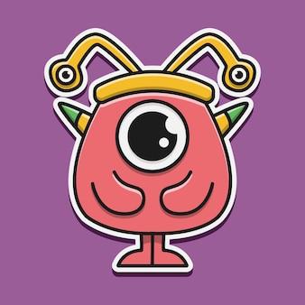 Handgezeichnetes cartoon-doodle-monster