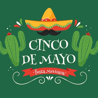 Handgezeichnetes cinco de mayo-design