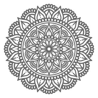 Handgezeichnetes dekoratives mandala im kreisförmigen stil