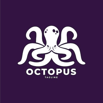 Handgezeichnetes design des octopus-logos
