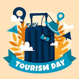Handgezeichnetes design des tourismus-tages