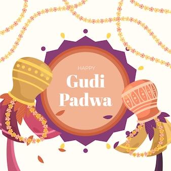 Handgezeichnetes design von gudi padwa