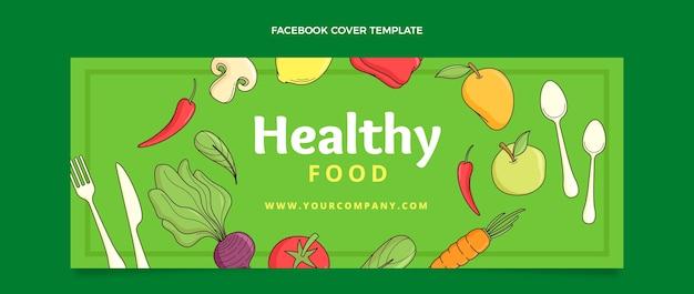Handgezeichnetes essen facebook-cover