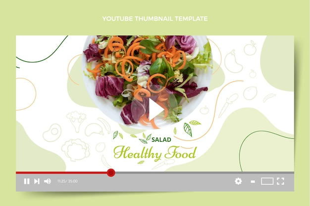 Handgezeichnetes essen youtube thumbnail