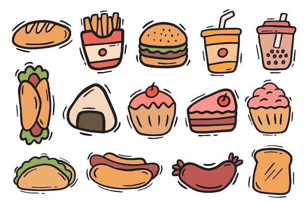 Handgezeichnetes fast-food-gekritzelelement