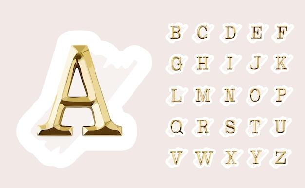 Handgezeichnetes feminines logo-design mit goldenen großbuchstaben