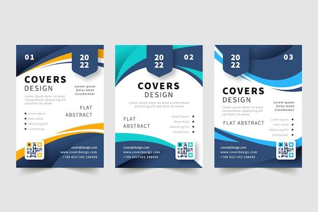 Handgezeichnetes flaches design-cover-design