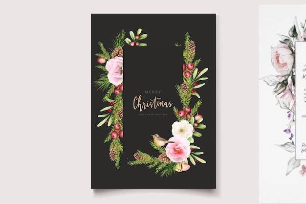 Handgezeichnetes florales weihnachtsdesign