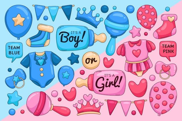 Handgezeichnetes gender-enthüllungskonzept
