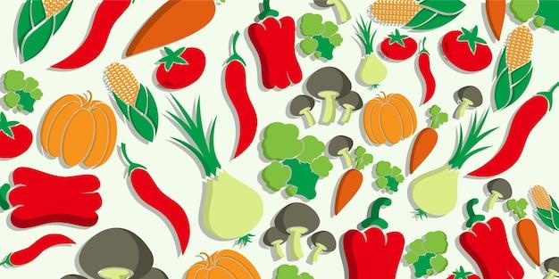 Handgezeichnetes gesundes essen für den hintergrund