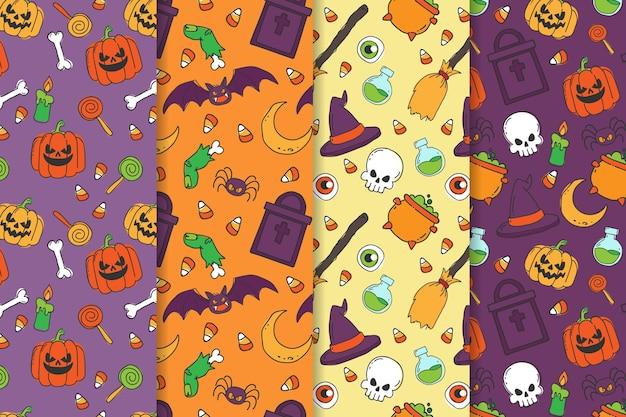 Handgezeichnetes halloween-muster