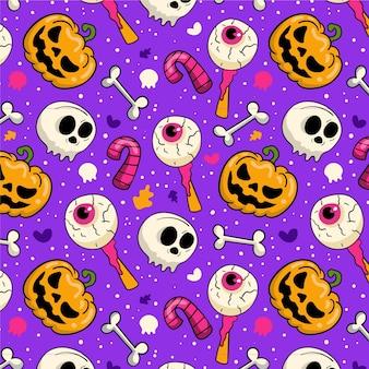 Handgezeichnetes halloween-musterdesign