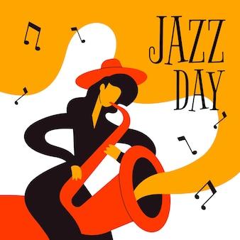 Handgezeichnetes internationales jazz-tagesthema