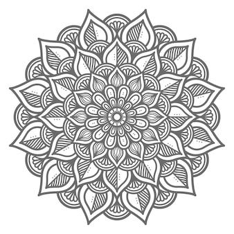Handgezeichnetes kreisförmiges mandala