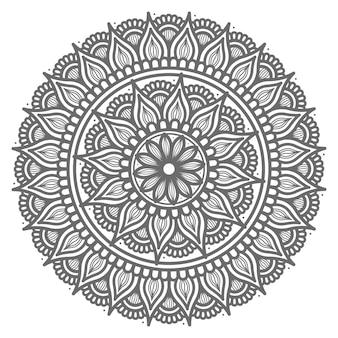 Handgezeichnetes mandala im kreisförmigen stil