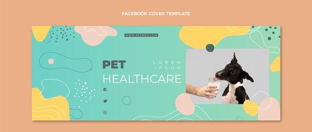 Handgezeichnetes medizinisches facebook-cover