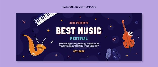 Handgezeichnetes musikfestival-facebook-cover
