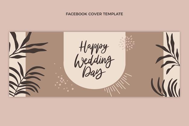 Handgezeichnetes naturhochzeits-facebook-cover