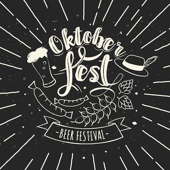 Handgezeichnetes oktoberfest-design