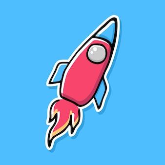Handgezeichnetes raketen-cartoon-design