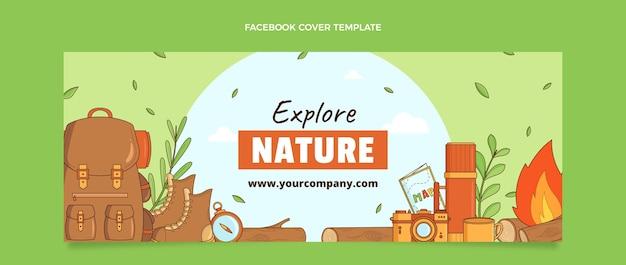 Handgezeichnetes reise-facebook-cover