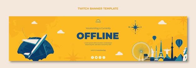Handgezeichnetes reise-twitch-banner