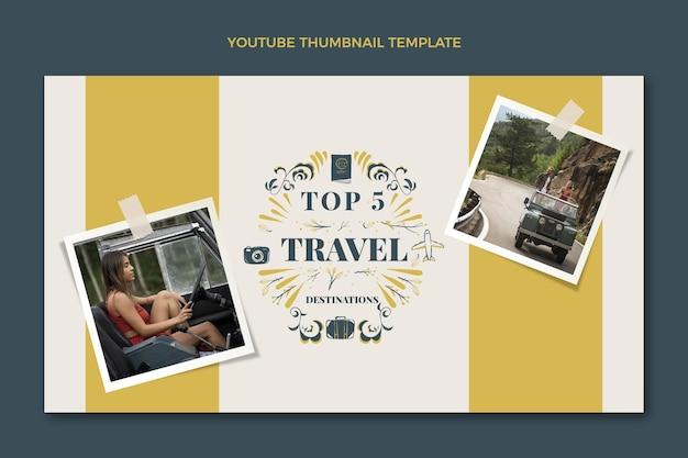 Handgezeichnetes reise-youtube-thumbnail