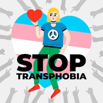 Handgezeichnetes stopp-homophobie-konzept illustriert