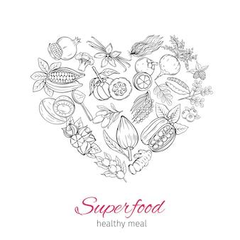 Handgezeichnetes superfood