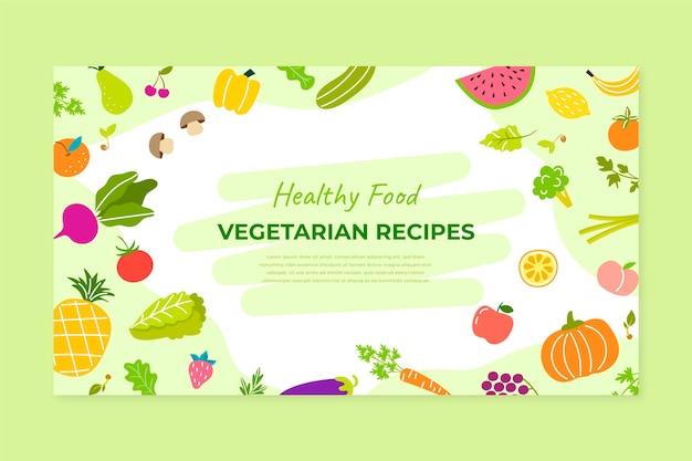 Handgezeichnetes vegetarisches essen youtube thumbnail