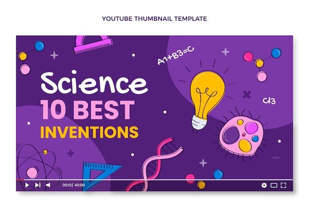 Handgezeichnetes wissenschafts-youtube-thumbnail