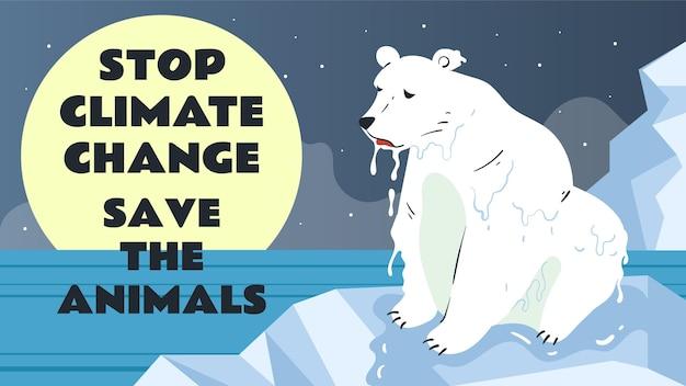 Handgezeichnetes youtube-thumbnail zum stoppen des klimawandels